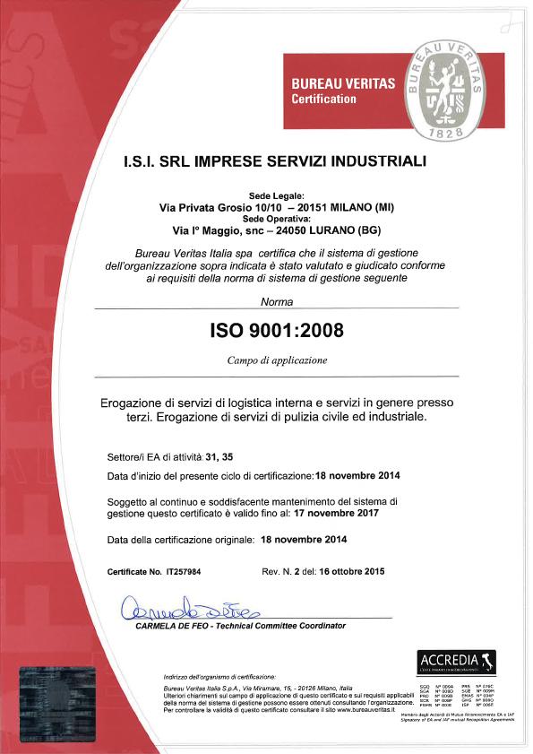 Certificazione ISI Servizi